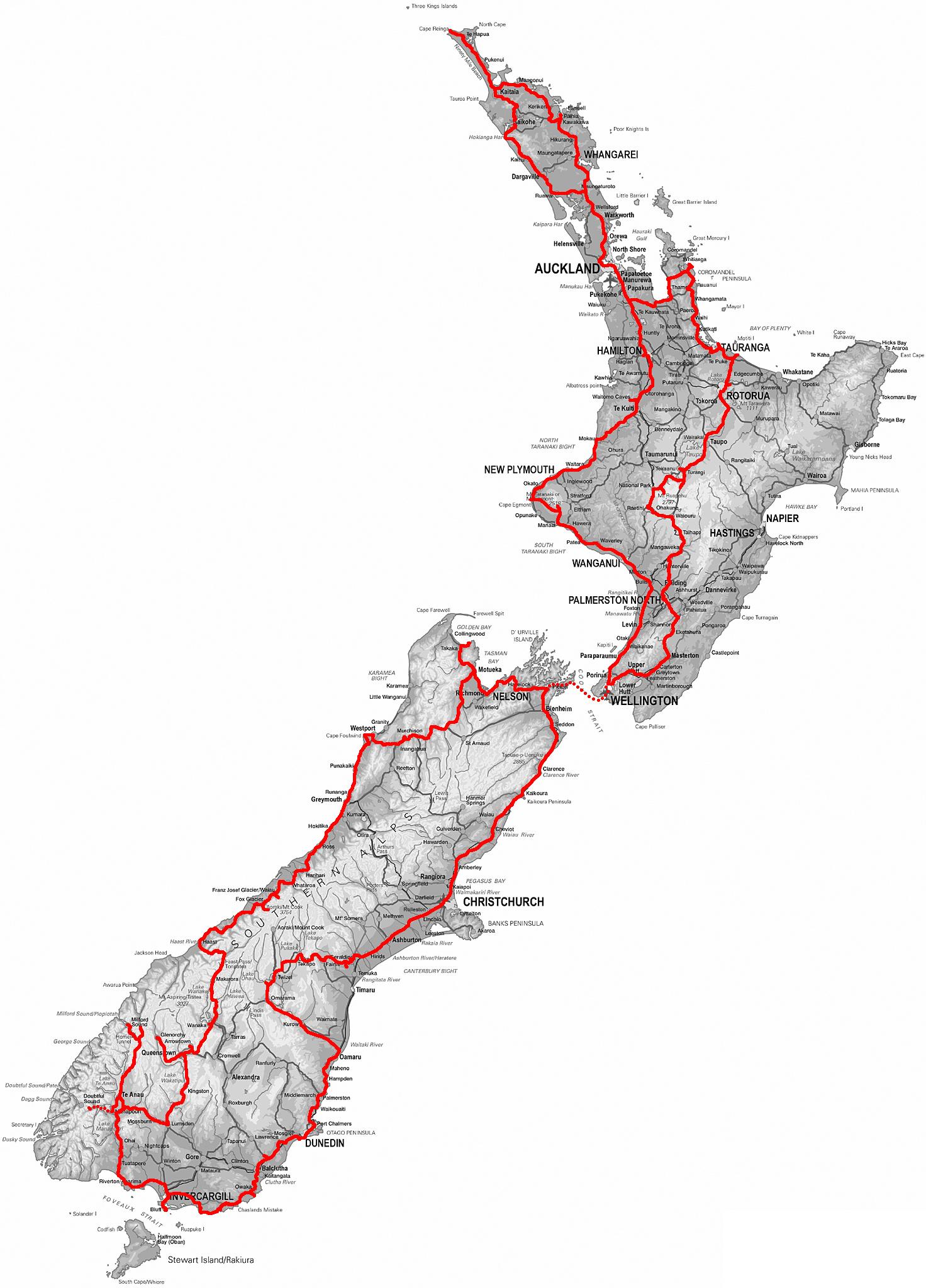 Neuseeland Nordinsel Karte.Neuseeland In 32 Tagen